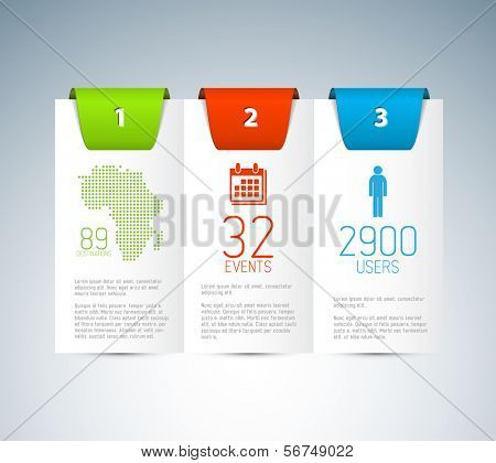 Numbered Vector Paper Progress background / product choice or versions poster