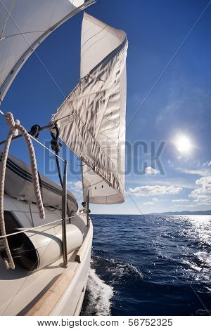 Sailing Boat Wide Angle View