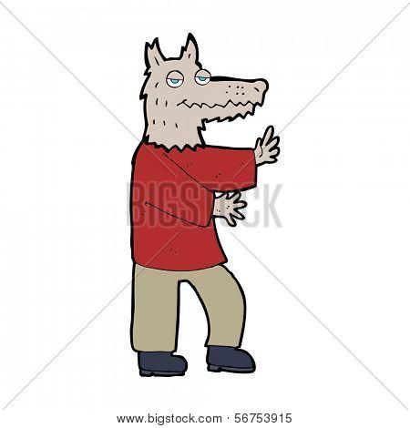 cartoon werewolf poster