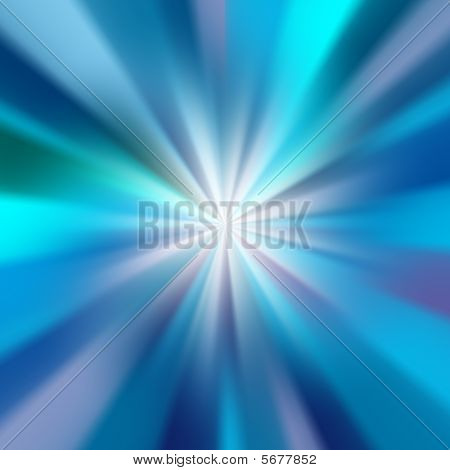 Abstract Blue Glow Rays
