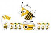 bucket bee's honey poster