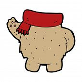 cartoon teddy bear body (mix and match or add own photos) poster