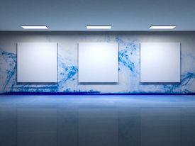 Contemporary art gallery interior