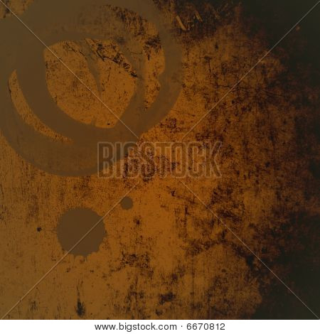 Grunge Background With Coffee Rings