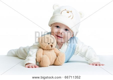 Cute Baby Weared Funny Hat With Toy