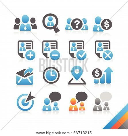 Business Human Resource Icon Vector - Simplicity Series