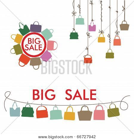 Colorful Silhouettes Women's Handbags.big Sale