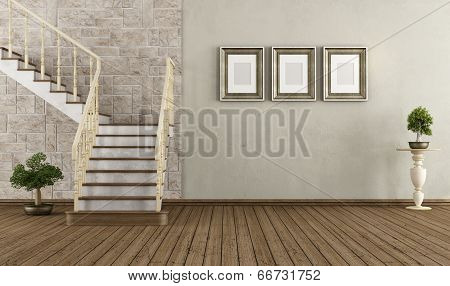 Vintage Room With Vintage Staircase