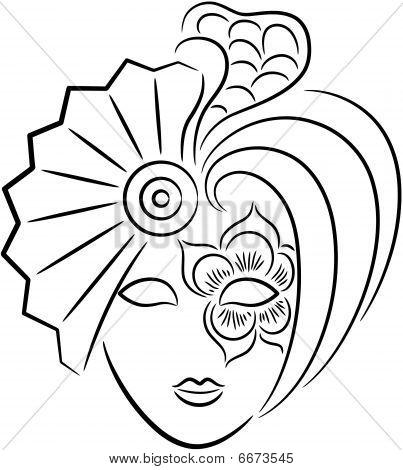 Карнавальная маска своими руками шаблон для девочек