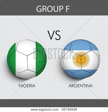 Group F Match Nigeria v/s Argentina countries flags