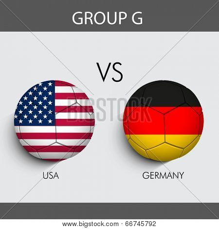 Group G Match U.S.A v/s Germany countries flags