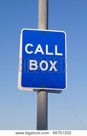 Call Box Sign