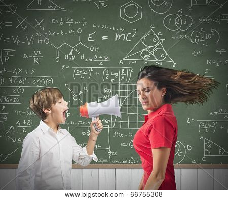 Child Yells At Her Teacher