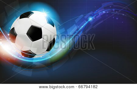 Ball On Blue Background