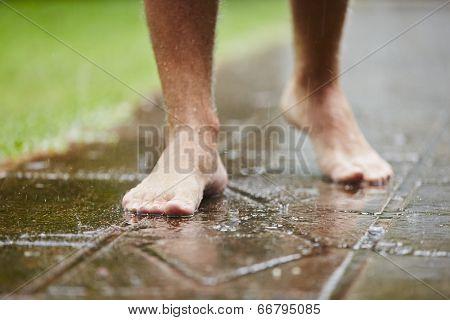 Barefoot In Rain