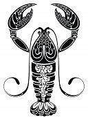 Zodiac sign . Decorative vector cancer . poster