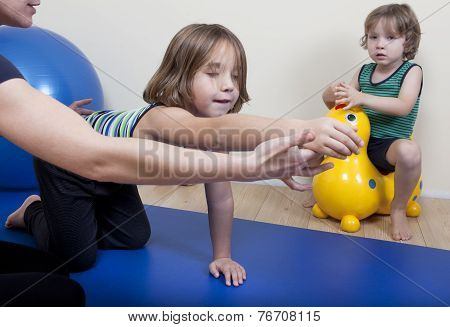Physiotherapy With Two Children