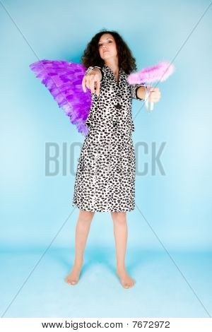 Woman With Angel's Wing