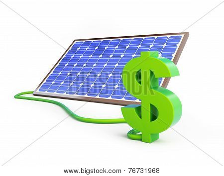 Solar Panel Dollar Sign