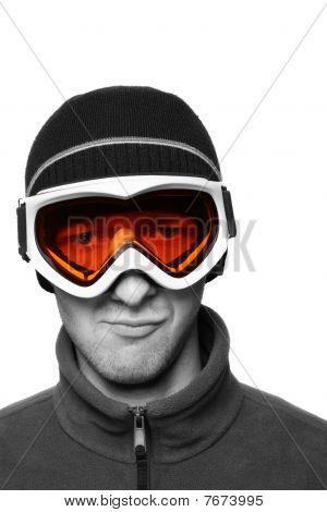 Masked Snowboarder
