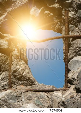 Hole  Wall  Concrete