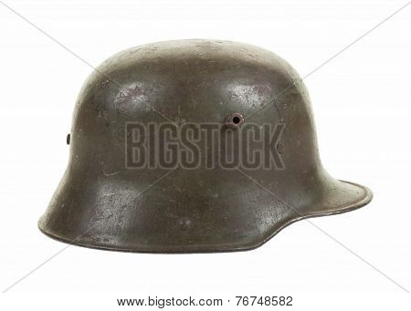 German World War One Steel Combat Helmet in Profile