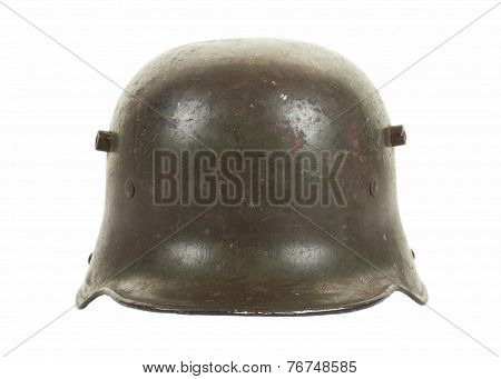 German World War One Steel Combat Helmet Front View