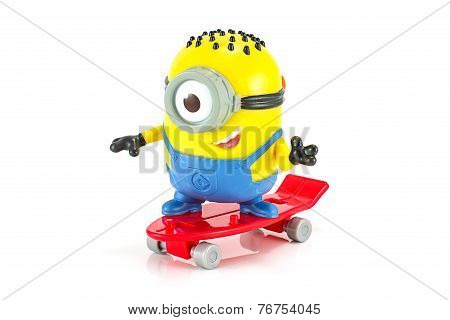 Carl rocket Minion toy character from Despicable Me animation movie