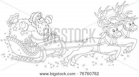 Sleigh of Santa Claus