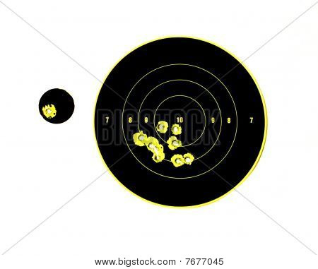 Target With Bullet Holes In It