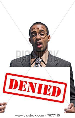 Upset Denied Man