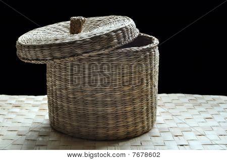 Basket cover slightly opened
