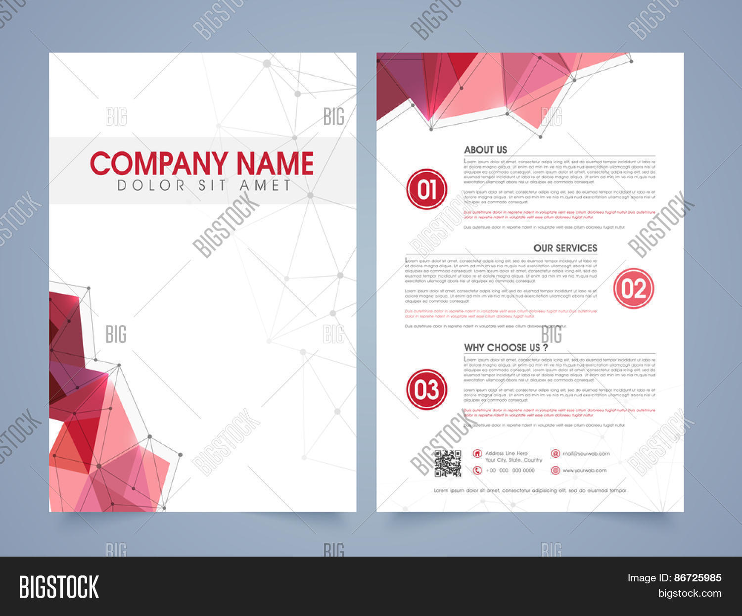 Front Back Page Vector Photo Free Trial Bigstock - Presentation cover page template