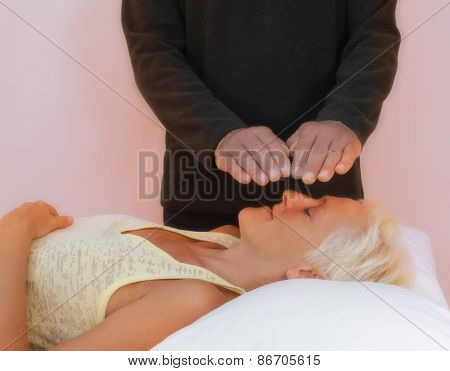 Channeling Reiki Healing to Female
