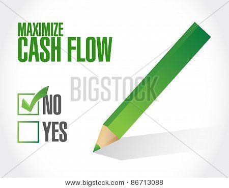 No Maximize Cash Flow Illustration Design