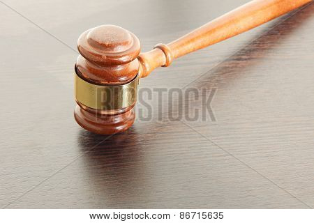 Judge Gavel Taken Closeup.