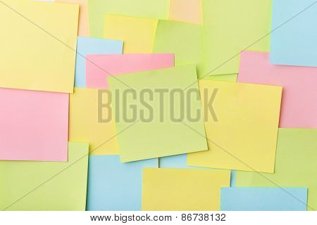 Background of color post-it notes