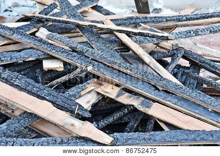 Burned beam