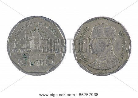 Coin Thailand On White