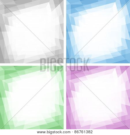 Set of Light Abstract Colorful Technology Frames, Backgrounds