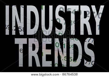"""Inscription """"Industry trends"""". Financial concept. Abstract backgrounds. poster"""