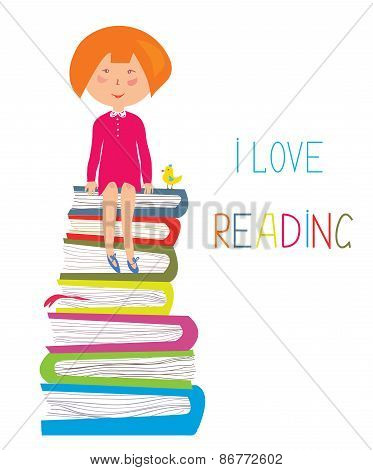 Child and books - love to read