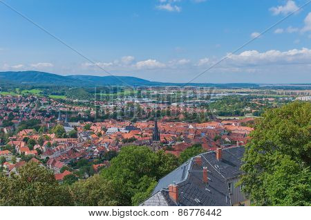 Top view from Castle, Germany.