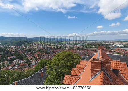 Cityscape and roofs, Germany.
