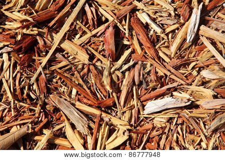Mulch with large chunks