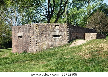 Machine gun pillbox guard post emplacement