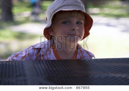 Young Boy At Playground