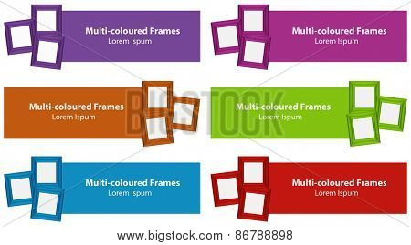 Six color tags and photo frames