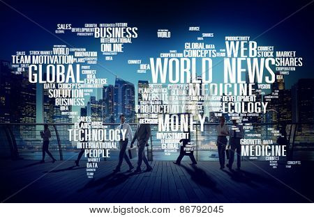 World News Globalization Advertising Event Media Infomation Concept
