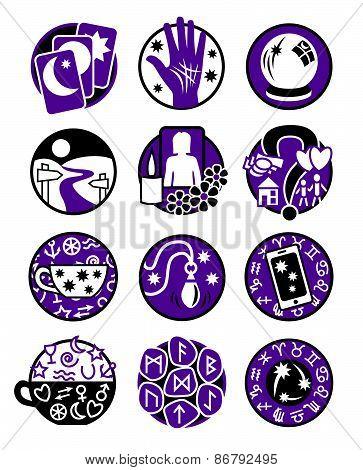Psychic Icons black purple